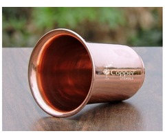 Shop for Copper Glass with Flattened Opening at Wholesale Prices